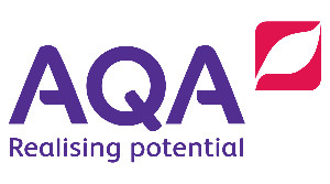 AQA logo - education charity providing GCSEs, A-levels and support